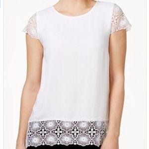 FREE w/any bundle Kensie Short Sleeve Cotton Top